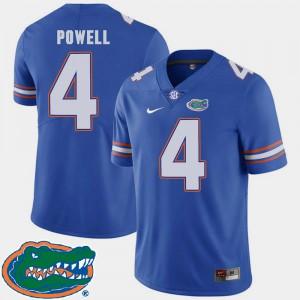 Men's Florida #4 Brandon Powell Royal College Football 2018 SEC Jersey 805787-381