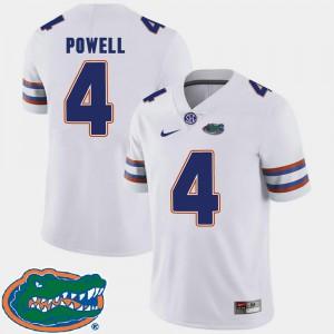 For Men's UF #4 Brandon Powell White College Football 2018 SEC Jersey 408995-371