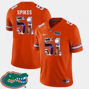 For Men Gators #51 Brandon Spikes Orange Pictorial Fashion Football Jersey 156258-969