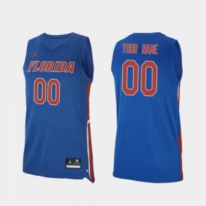 For Men Gators #00 Royal Replica 2019-20 College Basketball Custom Jerseys 618353-430