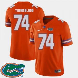 For Men University of Florida #74 Jack Youngblood Orange College Football 2018 SEC Jersey 823165-886