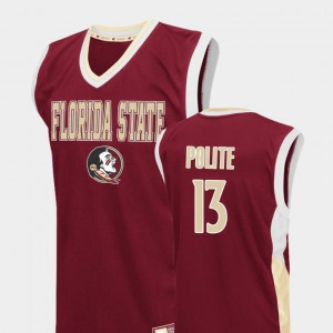 For Men Florida ST #13 Anthony Polite Red Fadeaway College Basketball Jersey 496771-821