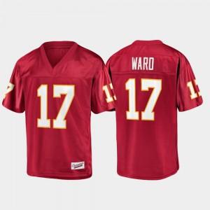 Men's Florida ST #17 Charlie Ward Garnet Champions Collection Jersey 636362-841