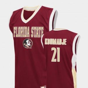 For Men Florida State Seminoles #21 Christ Koumadje Red Fadeaway College Basketball Jersey 116717-144