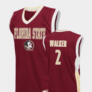 For Men's Florida State #2 CJ Walker Red Fadeaway College Basketball Jersey 220280-840