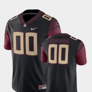 For Men Seminoles #00 Black College Football 2018 Game Custom Jersey 162064-357