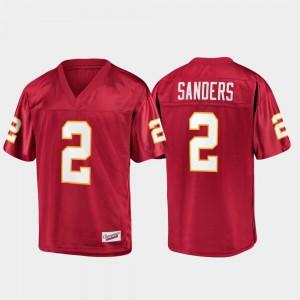 Men's FSU Seminoles #2 Deion Sanders Garnet Champions Collection Jersey 641022-845