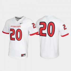 For Men's Fresno State #20 White Untouchable Game Jersey 941004-369