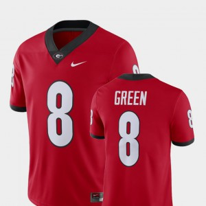 For Men's UGA #8 A.J. Green Red Alumni Football Game Player Jersey 655374-194