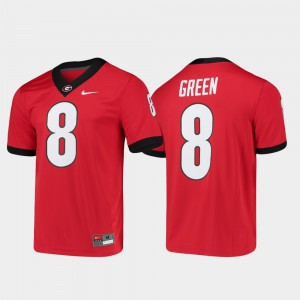 For Men's UGA Bulldogs #8 A.J. Green Red Game Alumni Player College Football Jersey 982661-213
