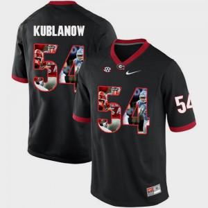 Men Georgia Bulldogs #54 Brandon Kublanow Black Pictorial Fashion Jersey 754068-528