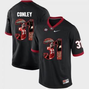 For Men UGA #31 Chris Conley Black Pictorial Fashion Jersey 151026-510
