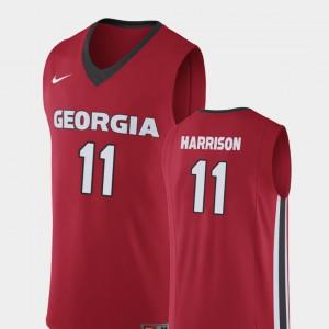 Men's Georgia #11 Christian Harrison Red Replica College Basketball Jersey 940898-262