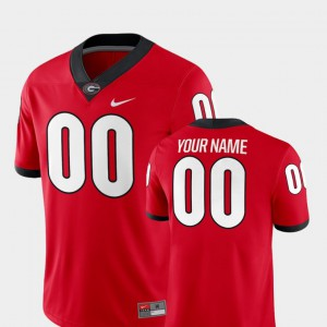 For Men's Georgia #00 Red College Football 2018 Game Custom Jersey 211859-876