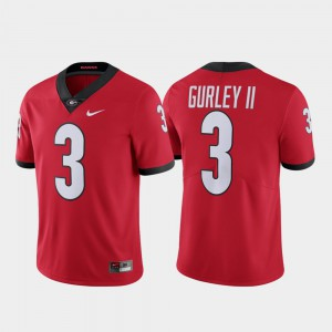 For Men UGA Bulldogs #3 Todd Gurley II Red Limited Alumni Jersey 930238-238