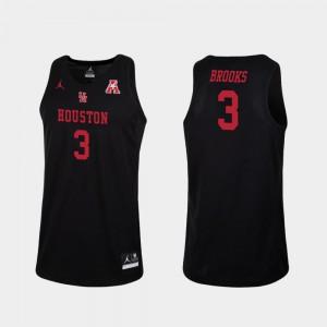 Men Cougars #3 Armoni Brooks Black Replica College Basketball Jersey 141459-430