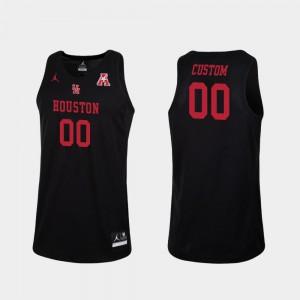 Men's University of Houston #00 Black Replica College Basketball Custom Jersey 405138-273
