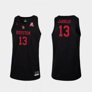For Men's UH Cougars #13 Dejon Jarreau Black Replica College Basketball Jersey 659303-912