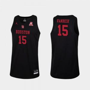 Men's Houston #15 Neil VanBeck Black Replica College Basketball Jersey 390676-759