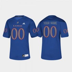 For Men Kansas #00 Royal College Football Customized Jersey 780417-668