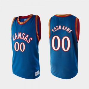 For Men Kansas #00 Royal Alumni College Basketball Custom Jerseys 778725-146