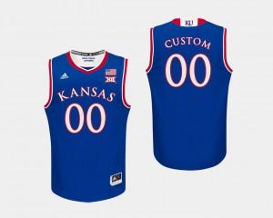 For Men's Kansas #00 Royal College Basketball Custom Jerseys 335512-373