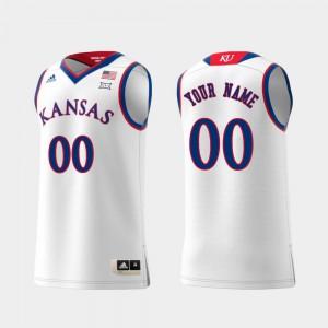 For Men KU #00 White Replica Swingman College Basketball Customized Jersey 693263-962