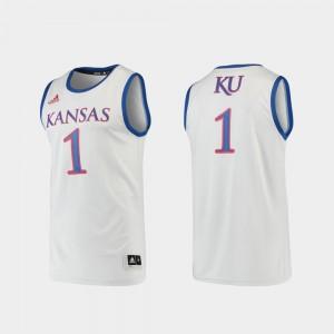 Men's Kansas Jayhawks #1 Gray Basketball Swingman Jersey 124223-791