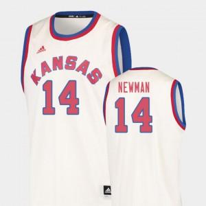 Men's Jayhawks #14 Malik Newman Cream Hardwood Classics College Basketball Jersey 516115-772