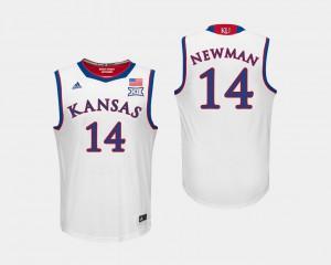 Men's University of Kansas #14 Malik Newman White College Basketball Jersey 232294-782