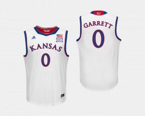 Mens KU #0 Marcus Garrett White College Basketball Jersey 984775-363