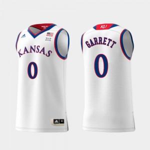 For Men Jayhawks #0 Marcus Garrett White Replica Swingman College Basketball Jersey 602168-757