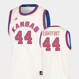Men's KU #44 Mitch Lightfoot Cream Hardwood Classics College Basketball Jersey 579998-878