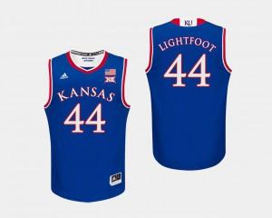 Mens Jayhawks #44 Mitch Lightfoot Royal College Basketball Jersey 612905-205