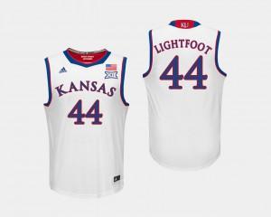 Men Kansas #44 Mitch Lightfoot White College Basketball Jersey 148465-344