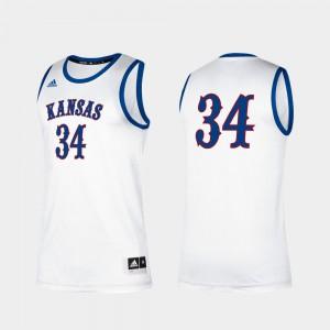 Mens Kansas Jayhawks #34 Paul Pierce White Alumni Classic Jersey 145433-785