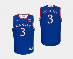 Mens KU #3 Sam Cunliffe Royal College Basketball Jersey 343246-760