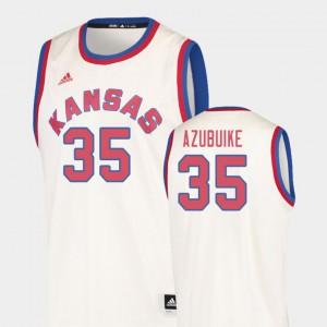 Mens Kansas #35 Udoka Azubuike Cream Hardwood Classics College Basketball Jersey 227488-871