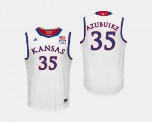 For Men's KU #35 Udoka Azubuike White College Basketball Jersey 385015-574