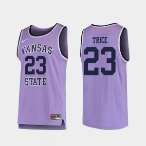 For Men Kansas State University #23 Austin Trice Purple Replica College Basketball Jersey 618207-166