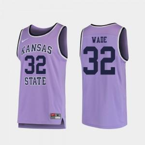 For Men Kansas State #32 Dean Wade Purple Replica College Basketball Jersey 802539-587