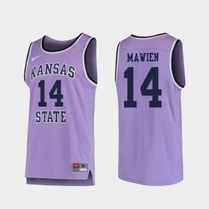Men Kansas State University #14 Makol Mawien Purple Replica College Basketball Jersey 522725-609