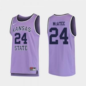 Mens K-State #24 Pierson McAtee Purple Replica College Basketball Jersey 198717-375