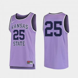 For Men's Kansas State Wildcats #25 Purple Replica College Basketball Jersey 666065-548