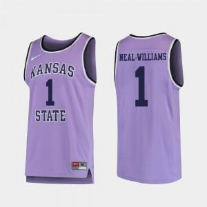 Men K-State #1 Shaun Neal-Williams Purple Replica College Basketball Jersey 165146-420