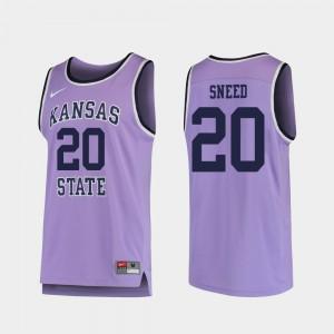Mens KSU #20 Xavier Sneed Purple Replica College Basketball Jersey 352068-365