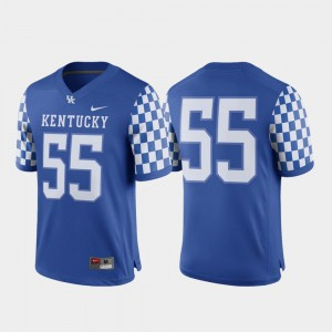 Men Wildcats #55 Royal Game College Football Jersey 585406-212