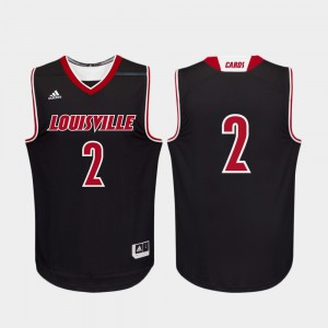Men's Cardinals #2 Black Replica College Basketball Jersey 374010-824