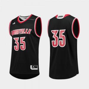 For Men's Cardinals #35 Black Replica College Basketball Jersey 505554-240