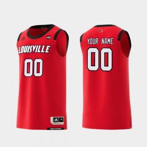 Men's Louisville #00 Red Replica College Basketball Custom Jersey 242806-206